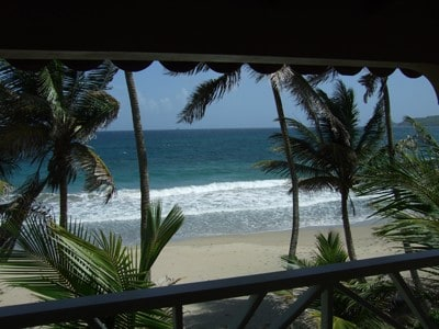 View from beachfront cottage
