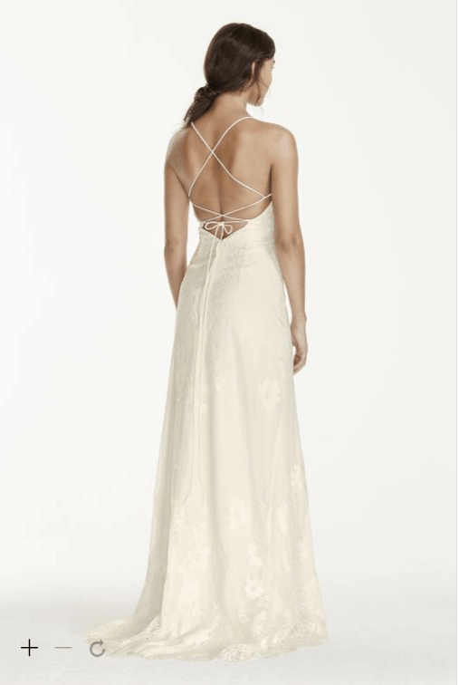 8 of the prettiest caribbean beach wedding dresses for Cross back wedding dress