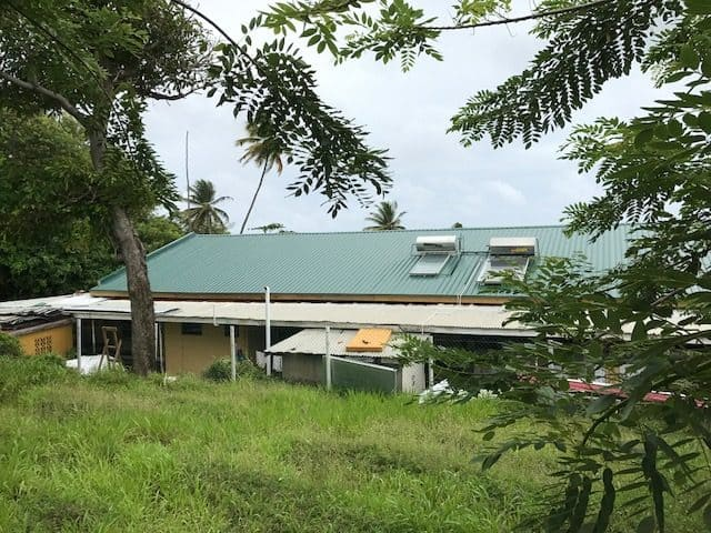 New roof on Hilarion Home in Sauteurs, Grenada