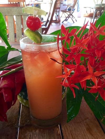 Sunday lunch cocktails in Grenada